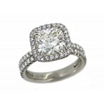 Bundles of Love handmade pave' diamond halo ring