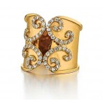 Marika design Scroll style diamond ring