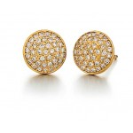 Marika diamond pave disc earrings