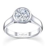 Vatche design bezel set diamond solitaire engagement ring