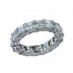 Custom 7.31ctw asscher cut diamond eternity band